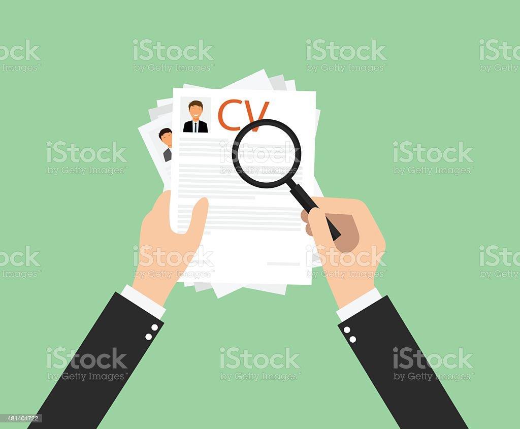 Recruitment from employee vector art illustration