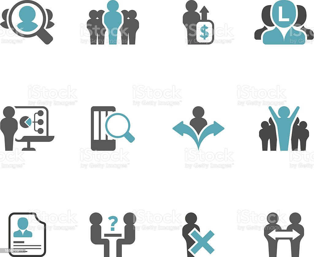 Recruitment & Job Icon Set | Concise Series vector art illustration