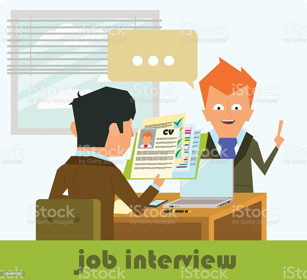 HR recruitment vector art illustration