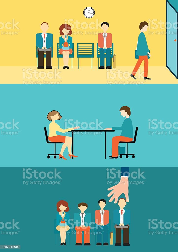 recruitment. vector art illustration
