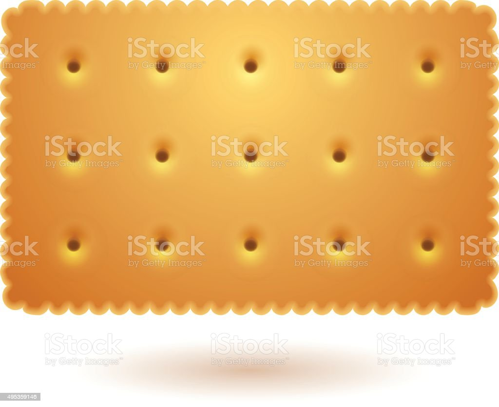 Rectangle cracker vector art illustration
