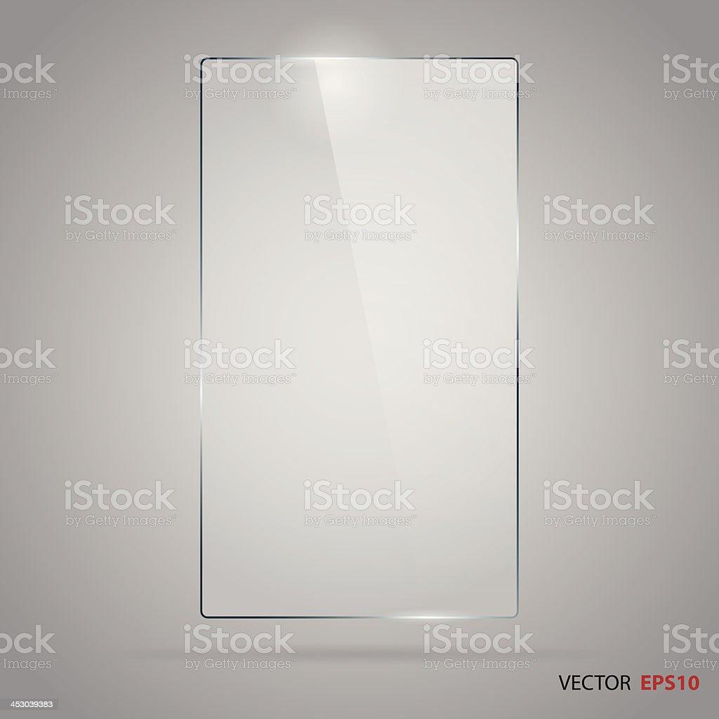 Rectangle glass frame vector art illustration