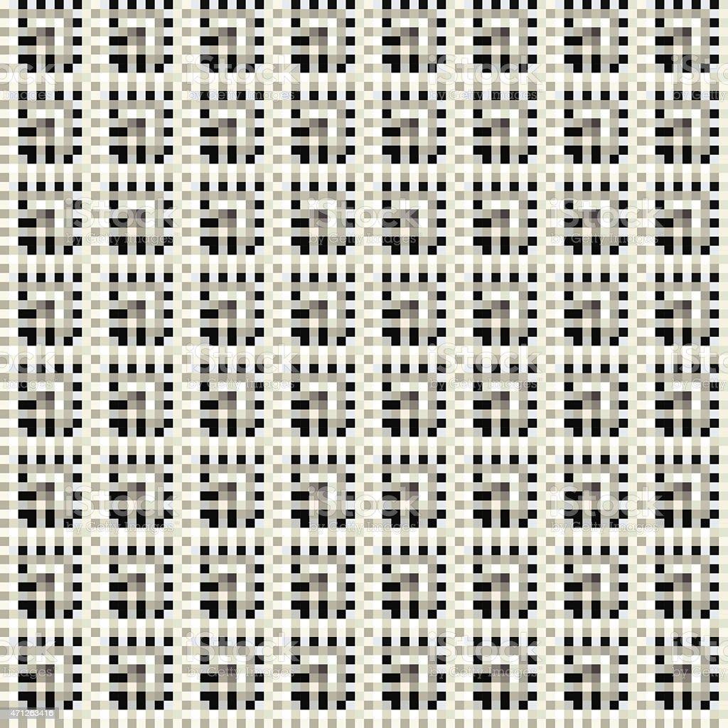 Rectangle pattern. Cube stylish wall paper design. vector art illustration
