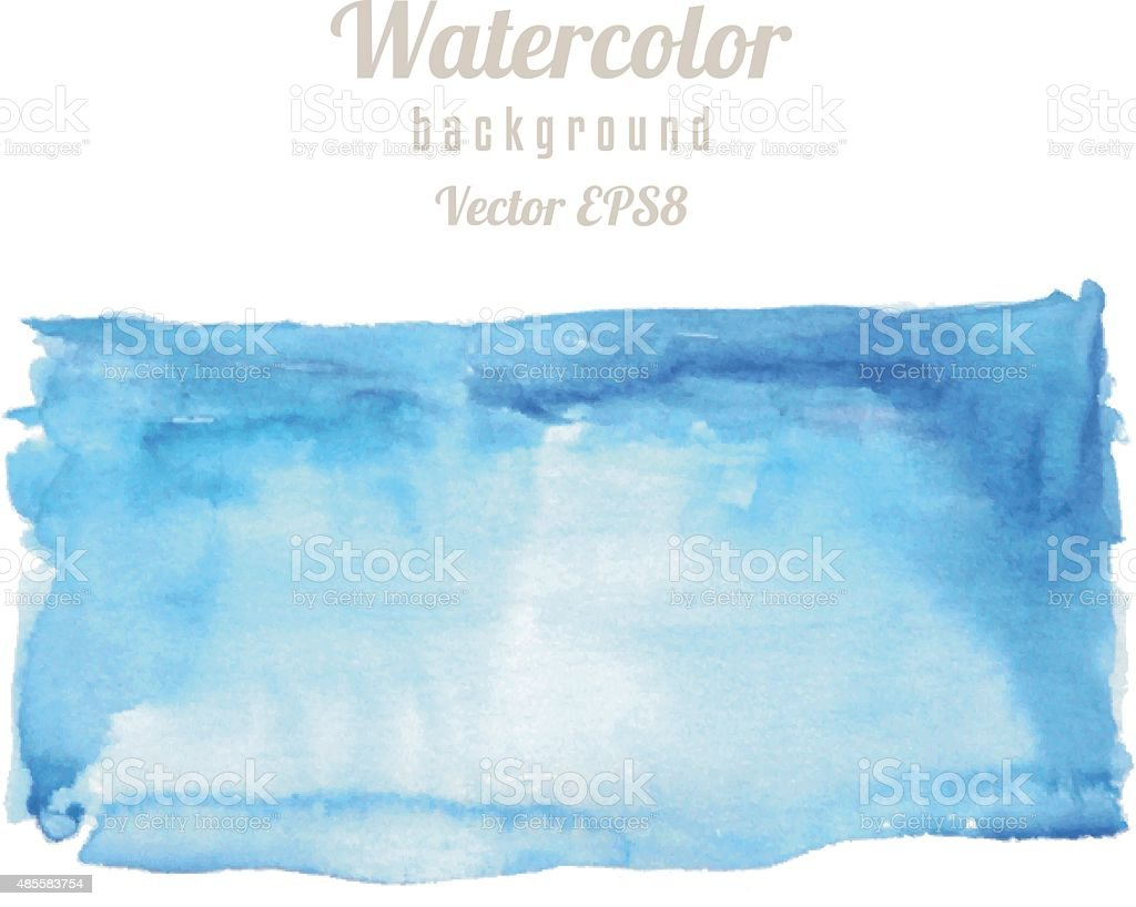 Rectangle Spot Watercolor Texture vector art illustration