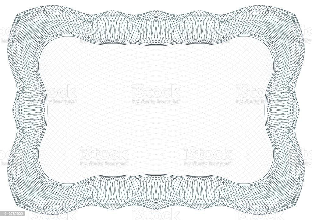 Rectangular guilloche frame vector art illustration