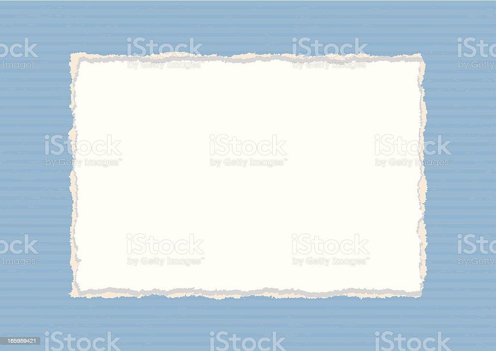 Rectangular Paper Frame vector art illustration