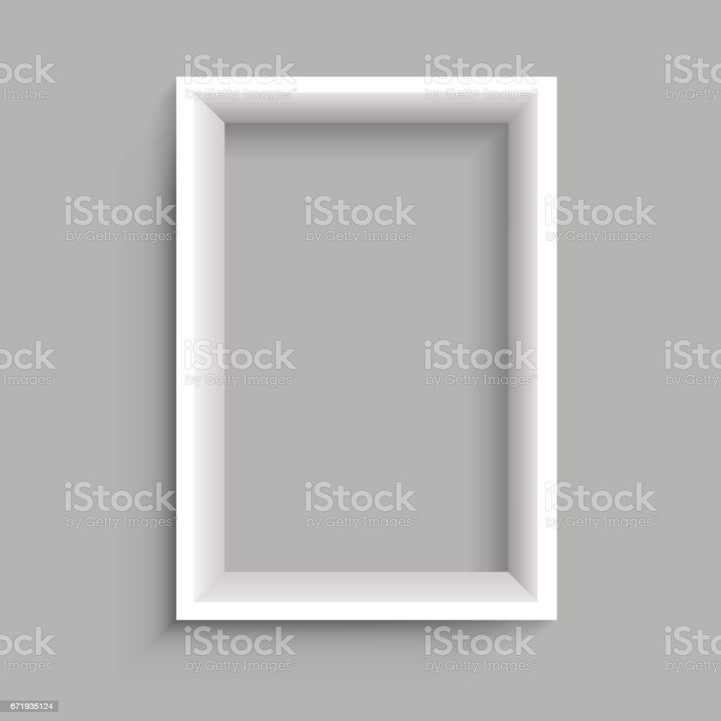 Rectangular Vertical White Shelf Royalty Free Stock Vector Art