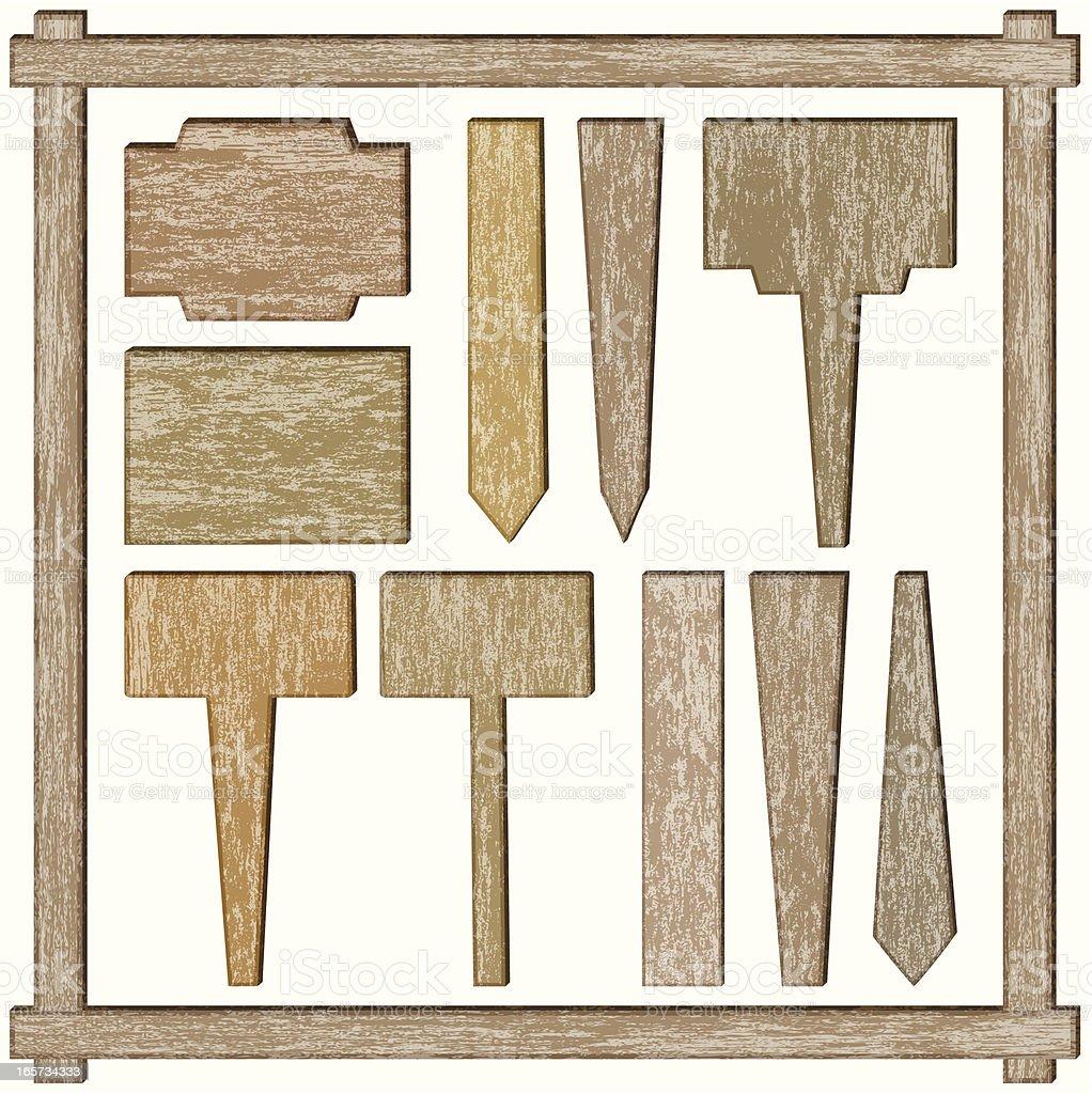 rectangular wooden labels royalty-free stock vector art