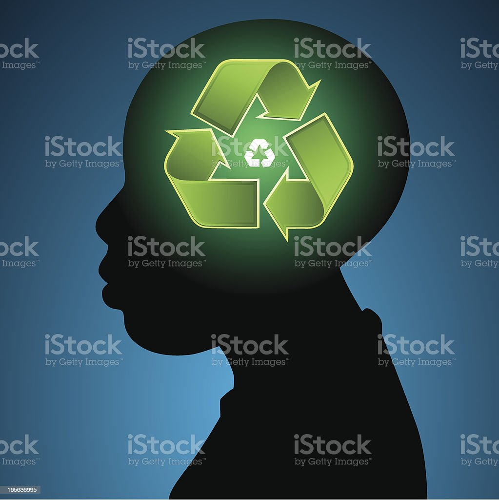 Recyckling thoughts vector art illustration