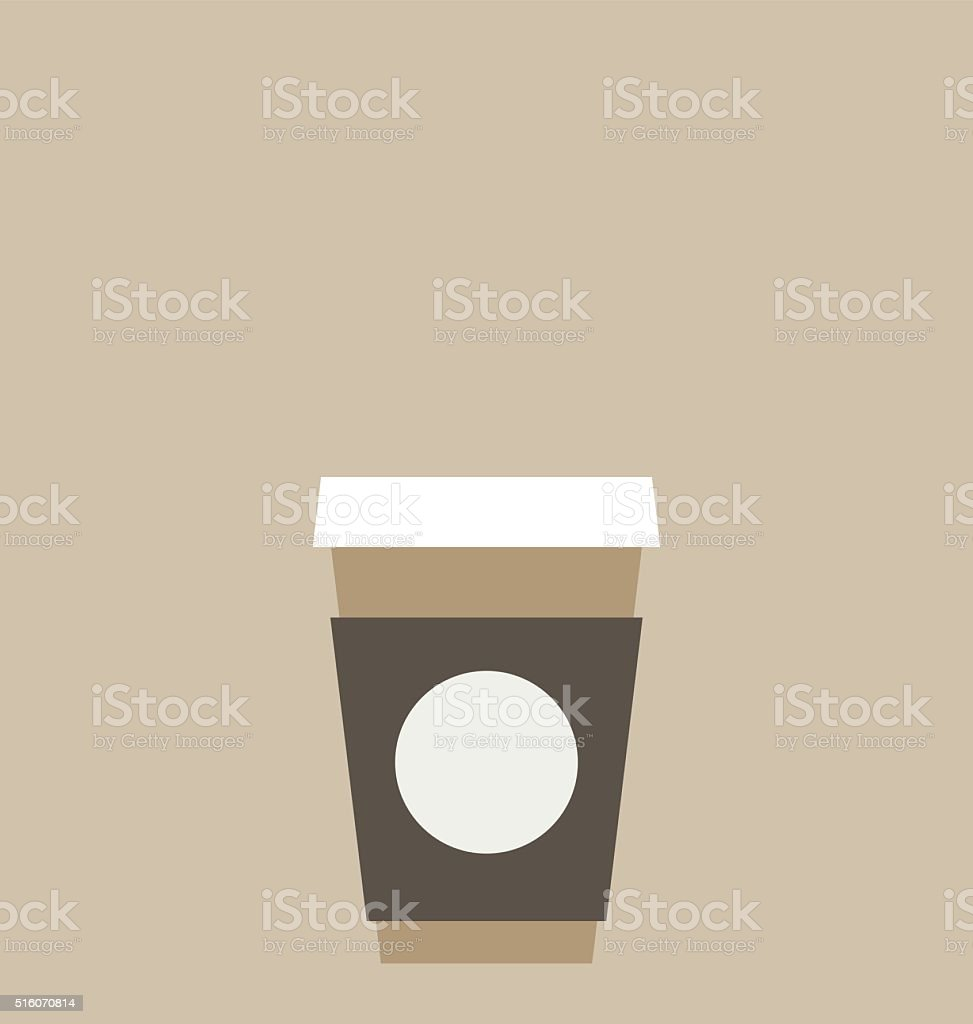 Recyclable cup of coffee to go. vector art illustration