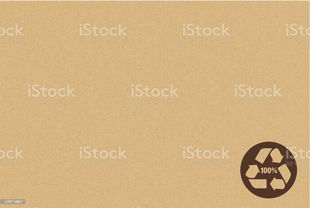 Recyclable Symbol On Cardboard vector art illustration