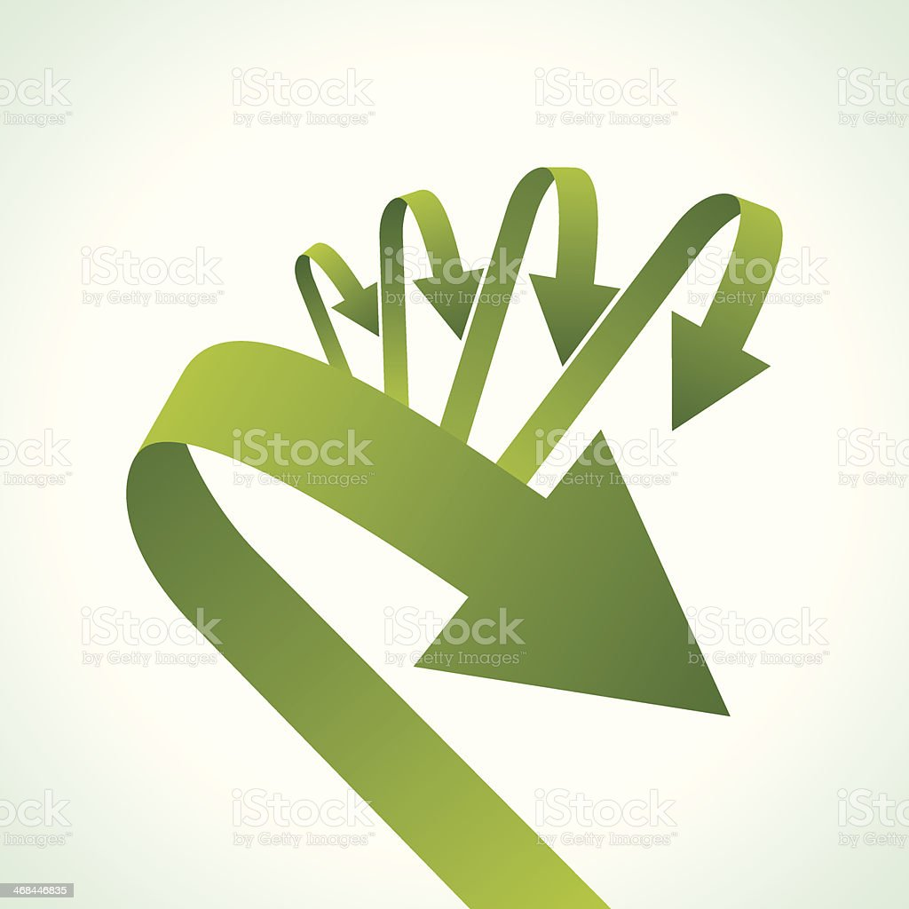 recycle arrow on isolated background royalty-free stock vector art