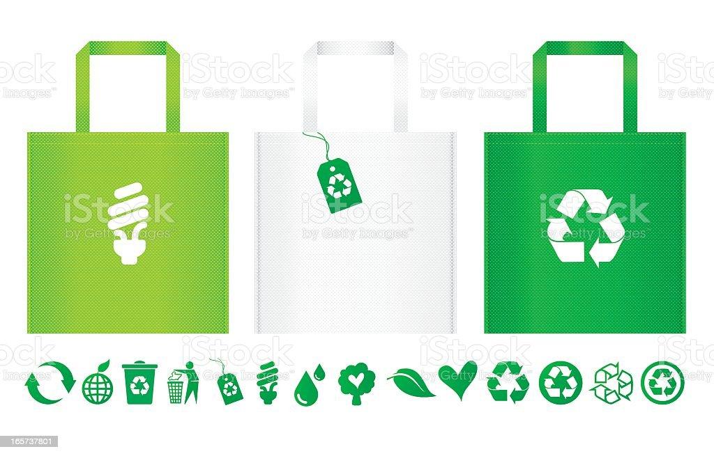 Recycle Bag vector art illustration