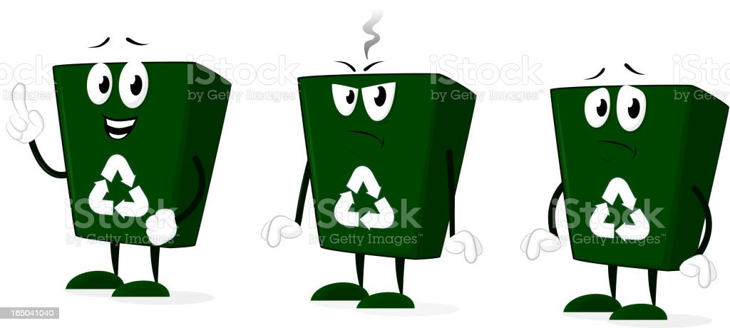 Recycle Bin Character royalty-free stock vector art