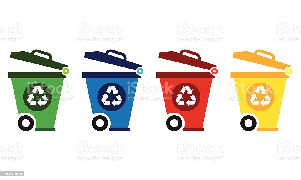Recycle Bin icon vector art illustration