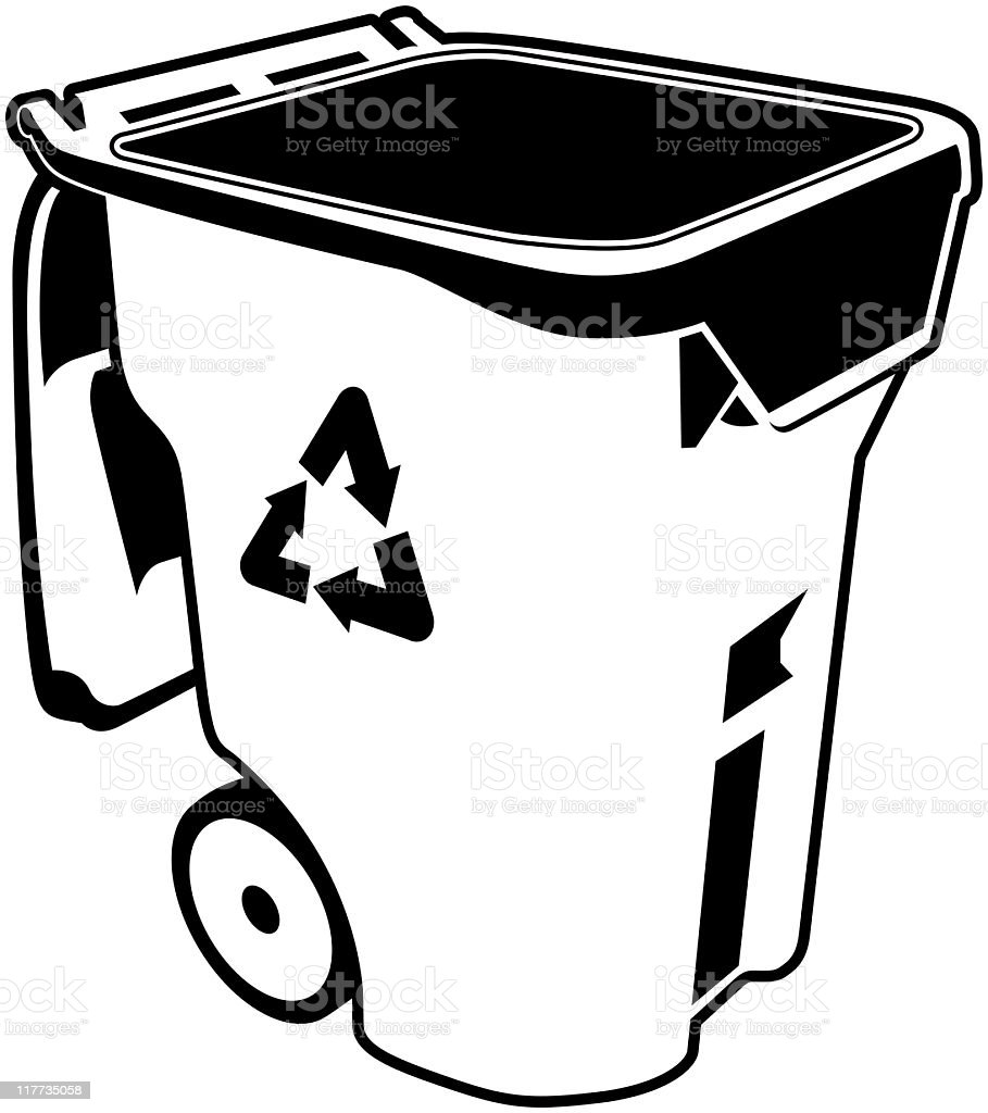 poubelle de recyclage stock vecteur libres de droits 117735058 istock. Black Bedroom Furniture Sets. Home Design Ideas