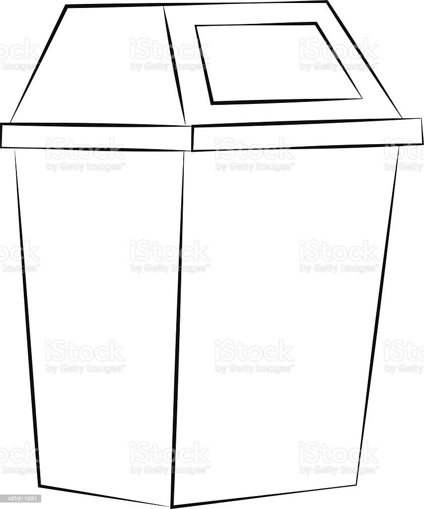 Recycle Bin vector art illustration