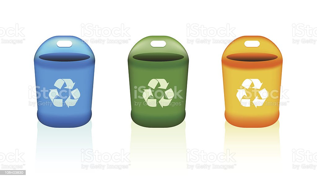 Recycle Bins vector art illustration