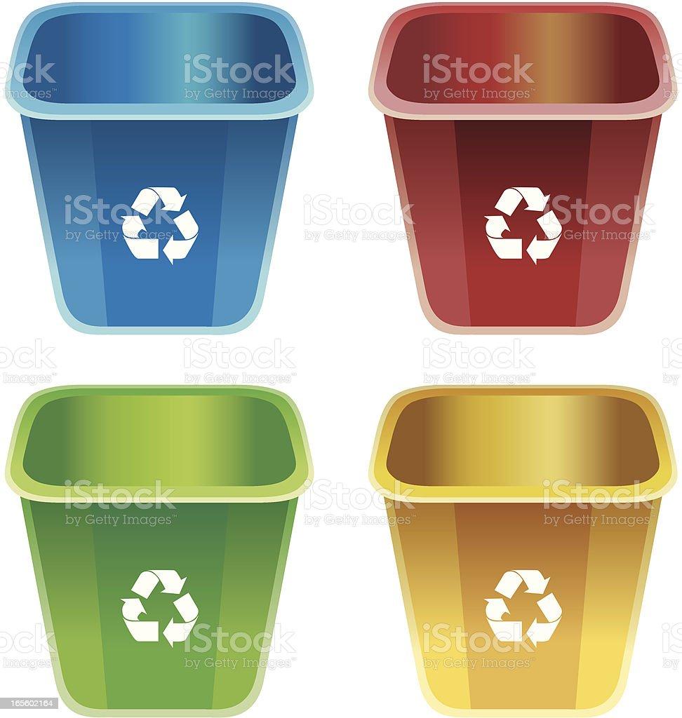 Recycle Bins royalty-free stock vector art