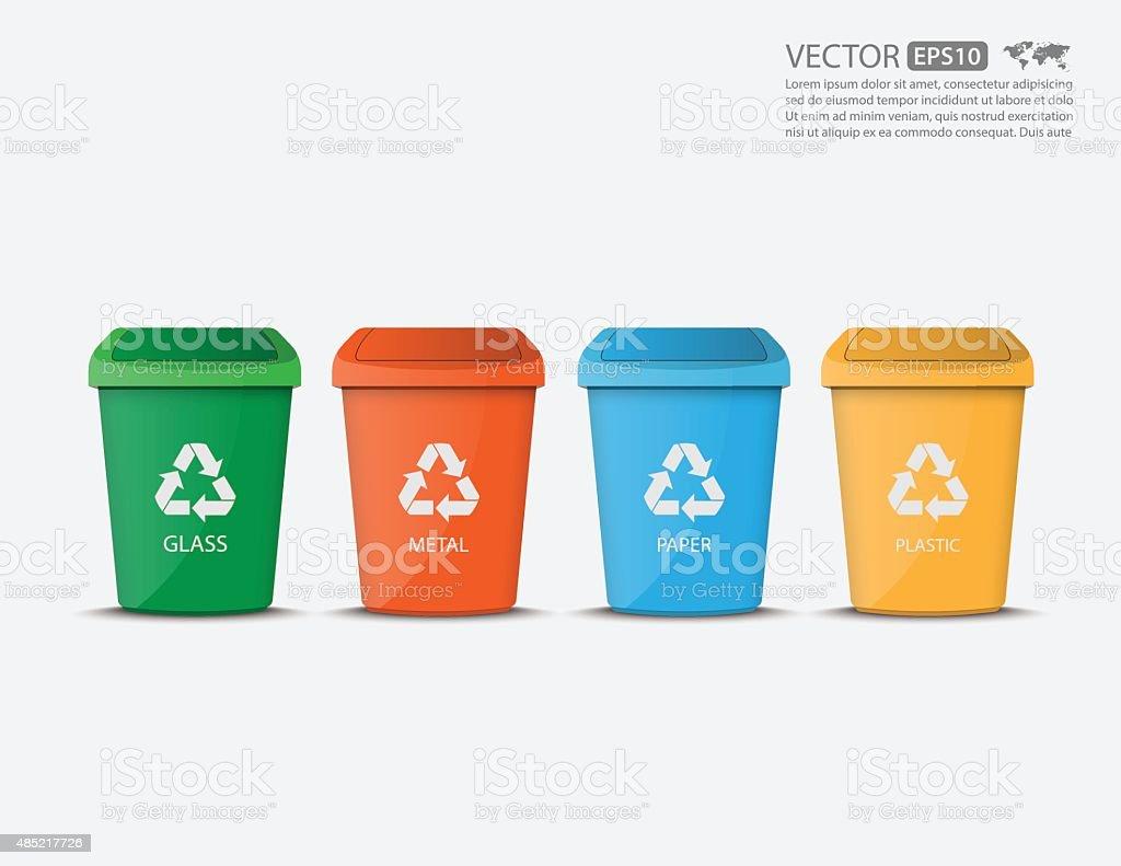 Recycle Bins,vector vector art illustration