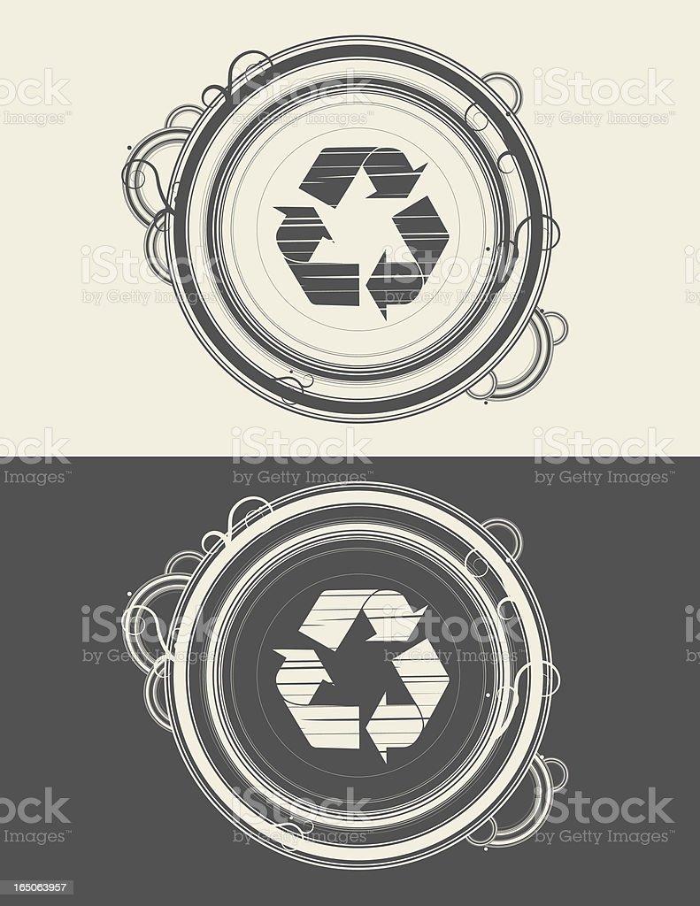 recycle circles royalty-free stock vector art
