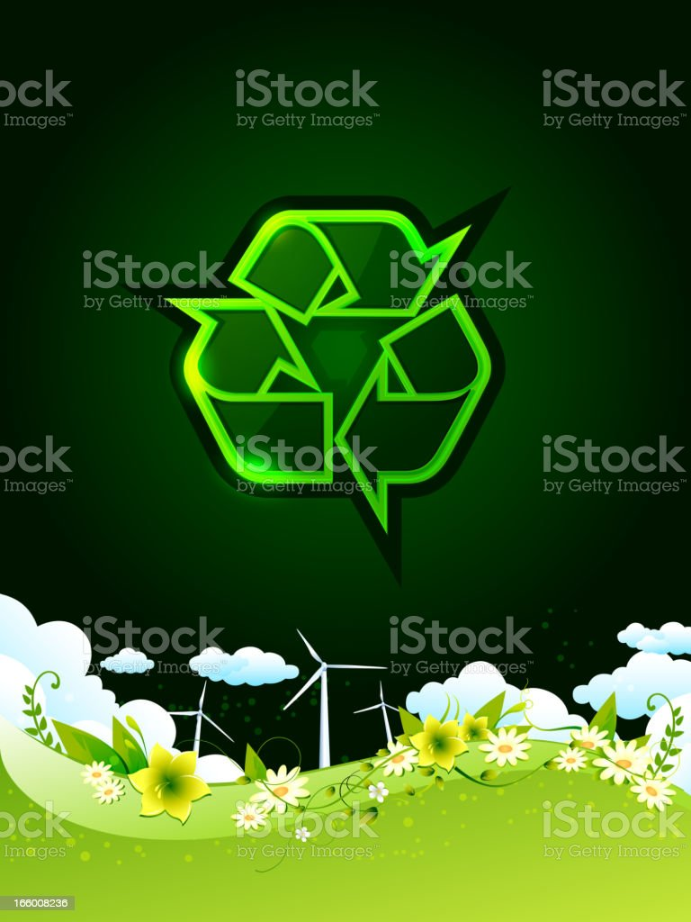 Recycle - Clean Environment royalty-free stock vector art