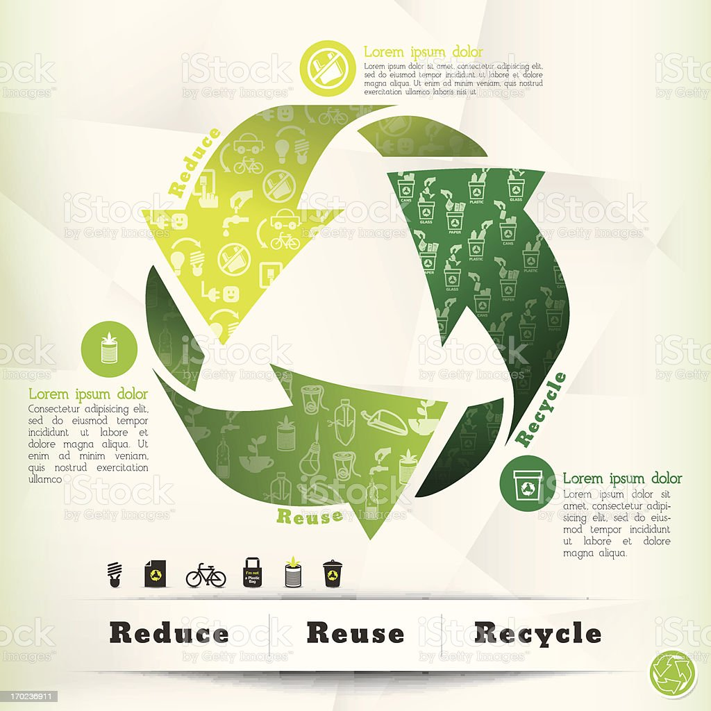Recycle Concept Graphic Element vector art illustration
