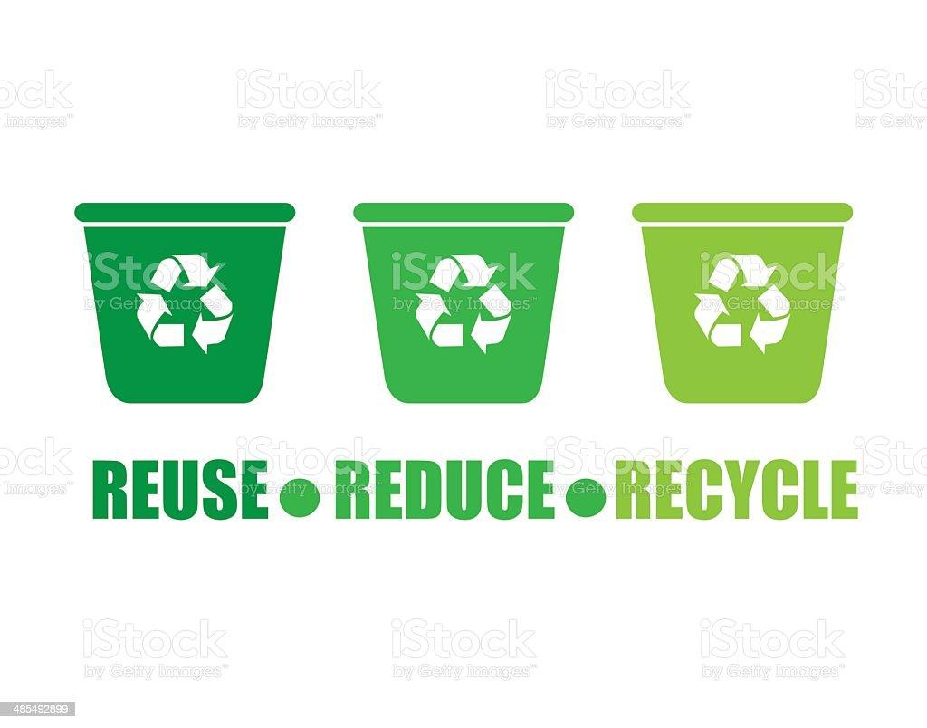 Recycle design vector art illustration