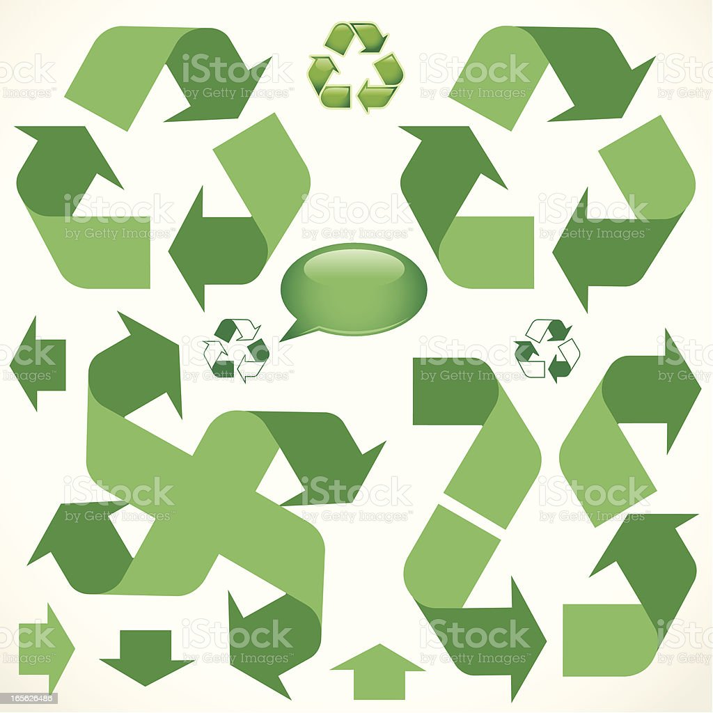 Recycle Directions royalty-free stock vector art