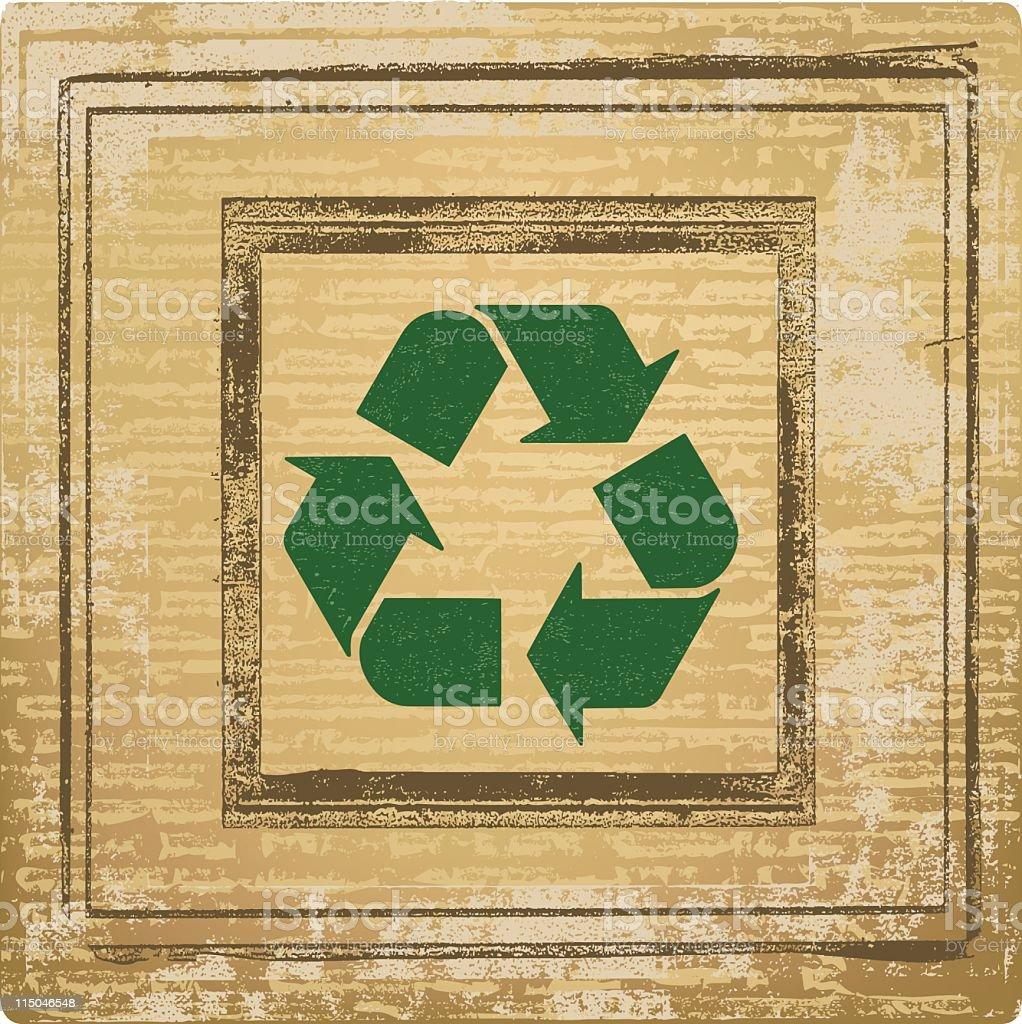 Recycle Fibers royalty-free stock vector art