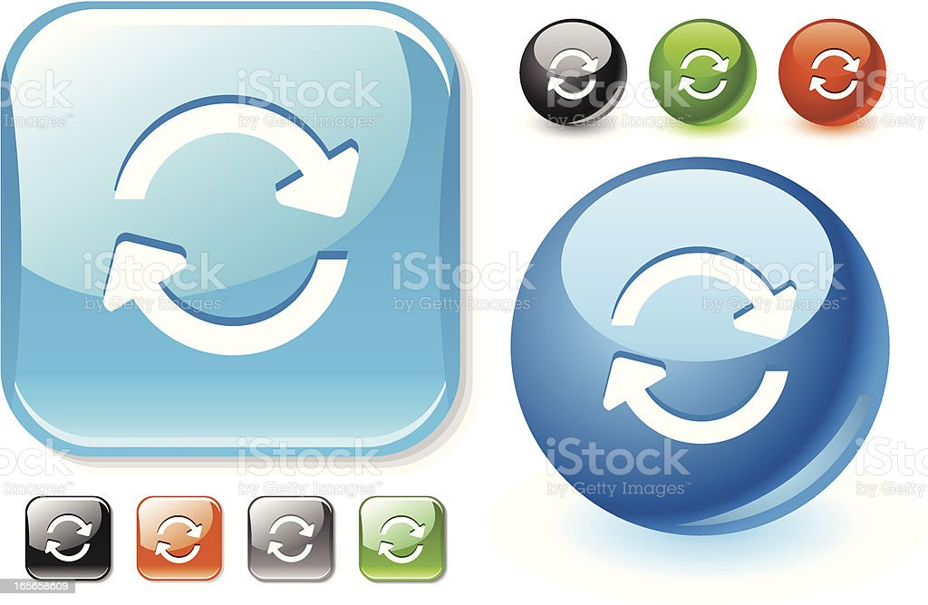 Recycle icon set royalty-free stock vector art