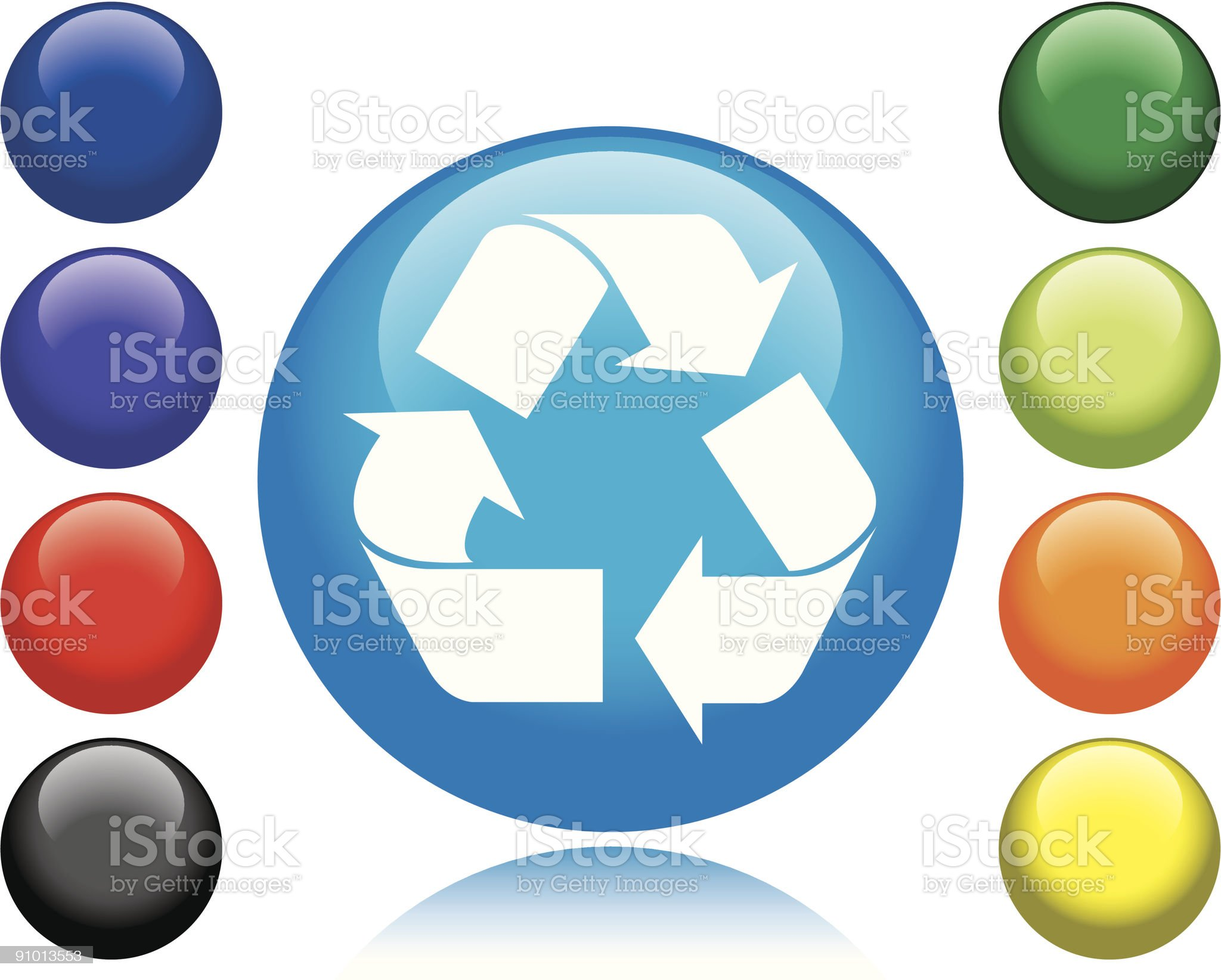 Recycle Icon royalty-free stock vector art