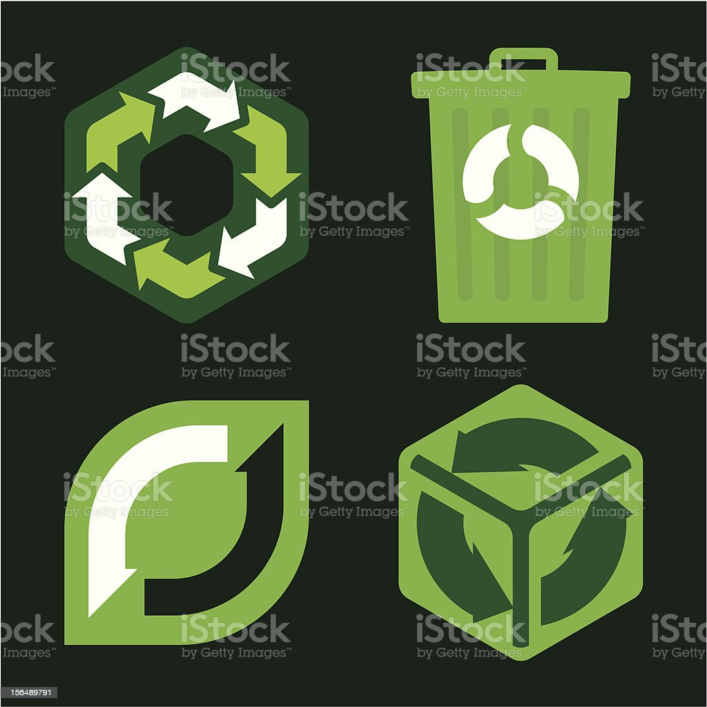Recycle icons (vector) royalty-free stock vector art