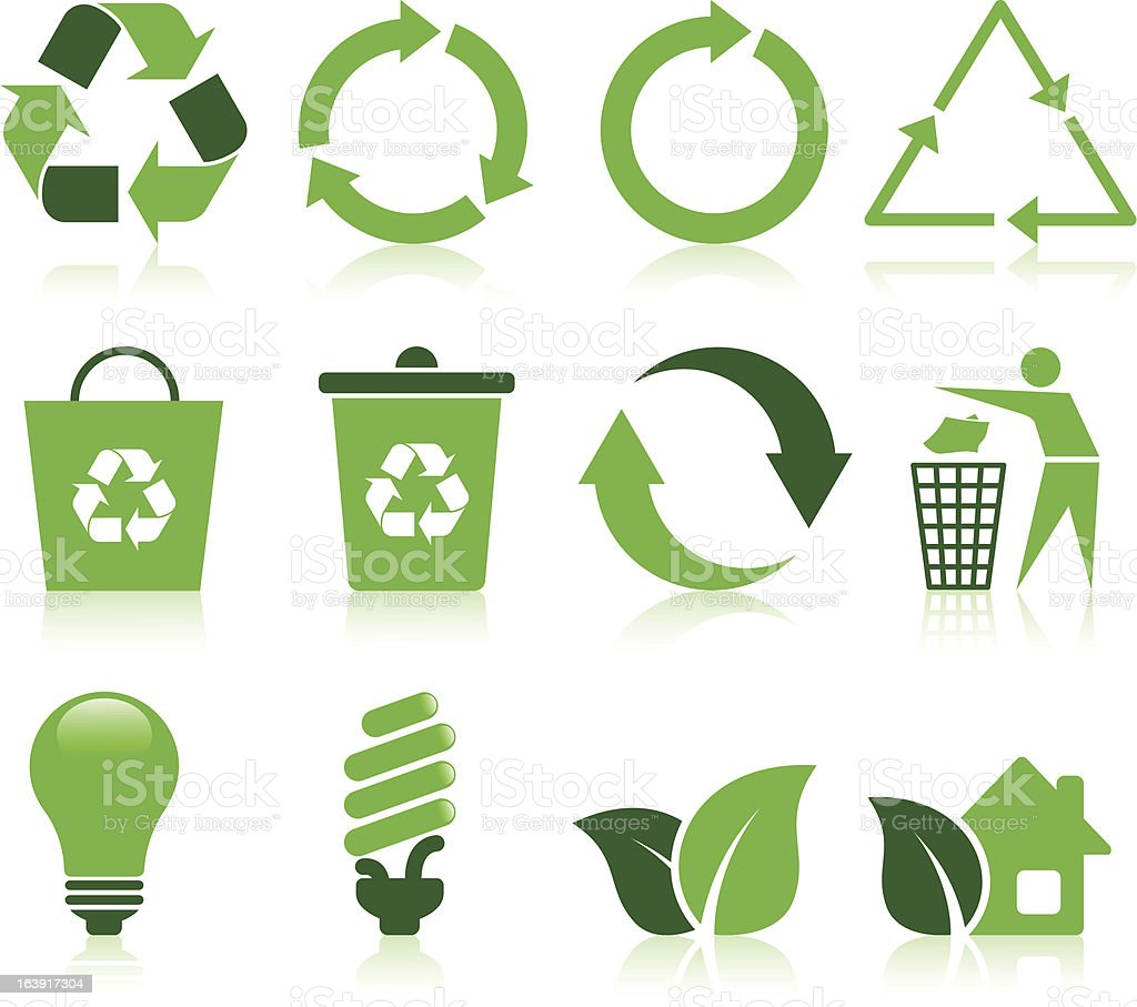 Recycle icons royalty-free stock vector art