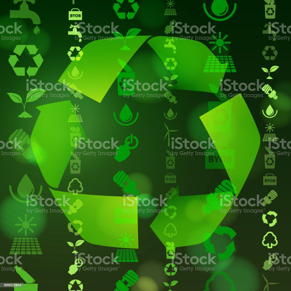 Recycle Life vector art illustration