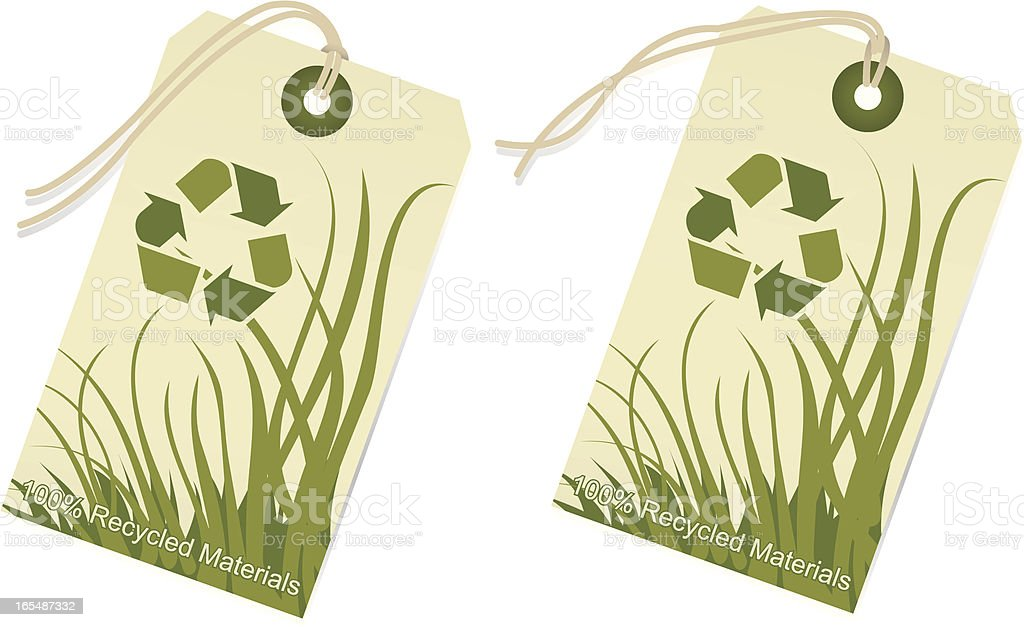 Recycle Materials Tags royalty-free stock vector art