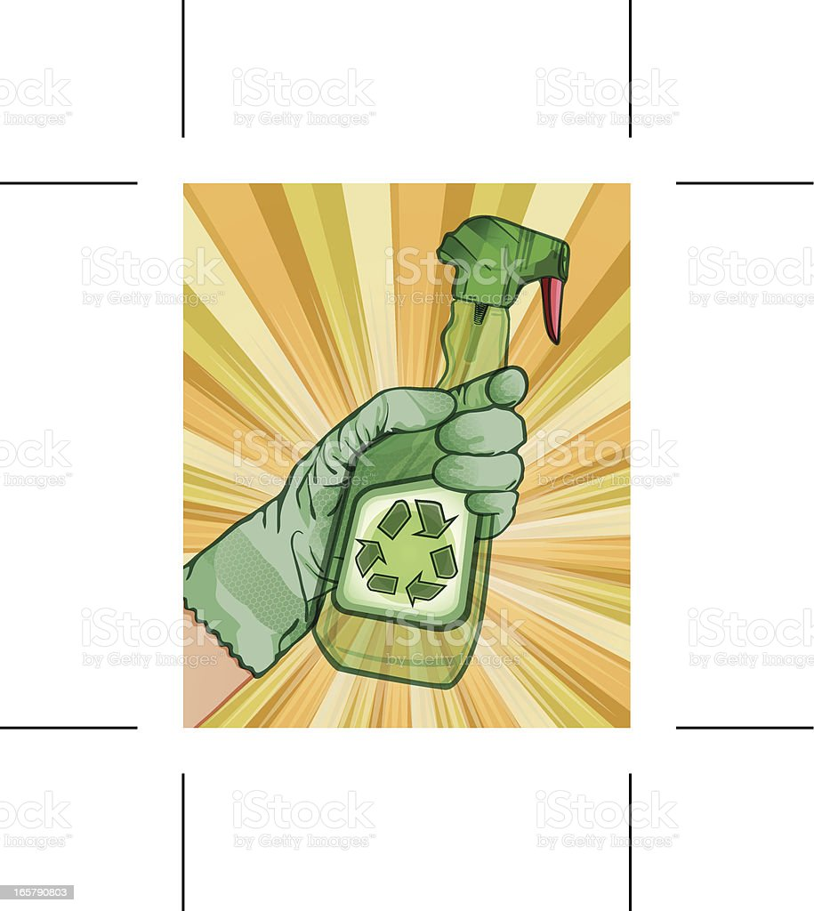 Recycle now! vector art illustration