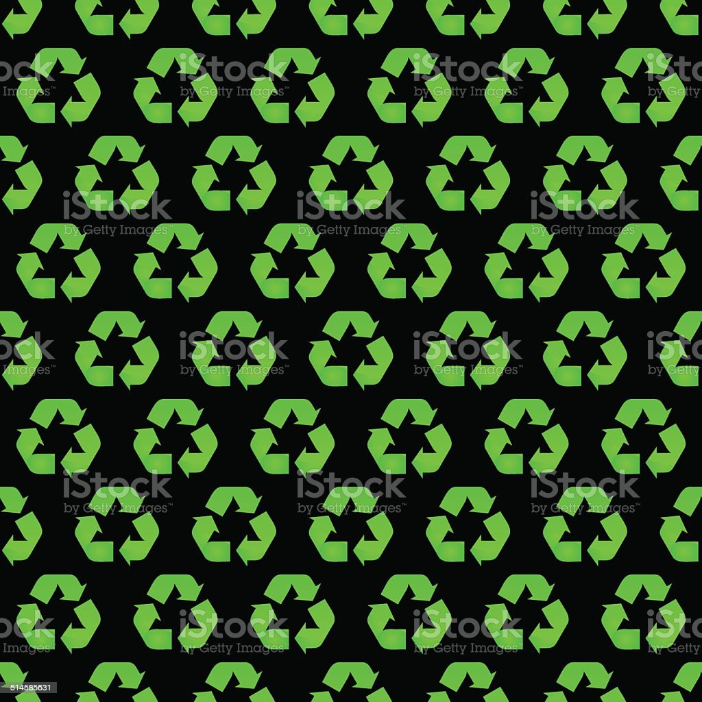 Recycle. Seamless pattern. vector art illustration