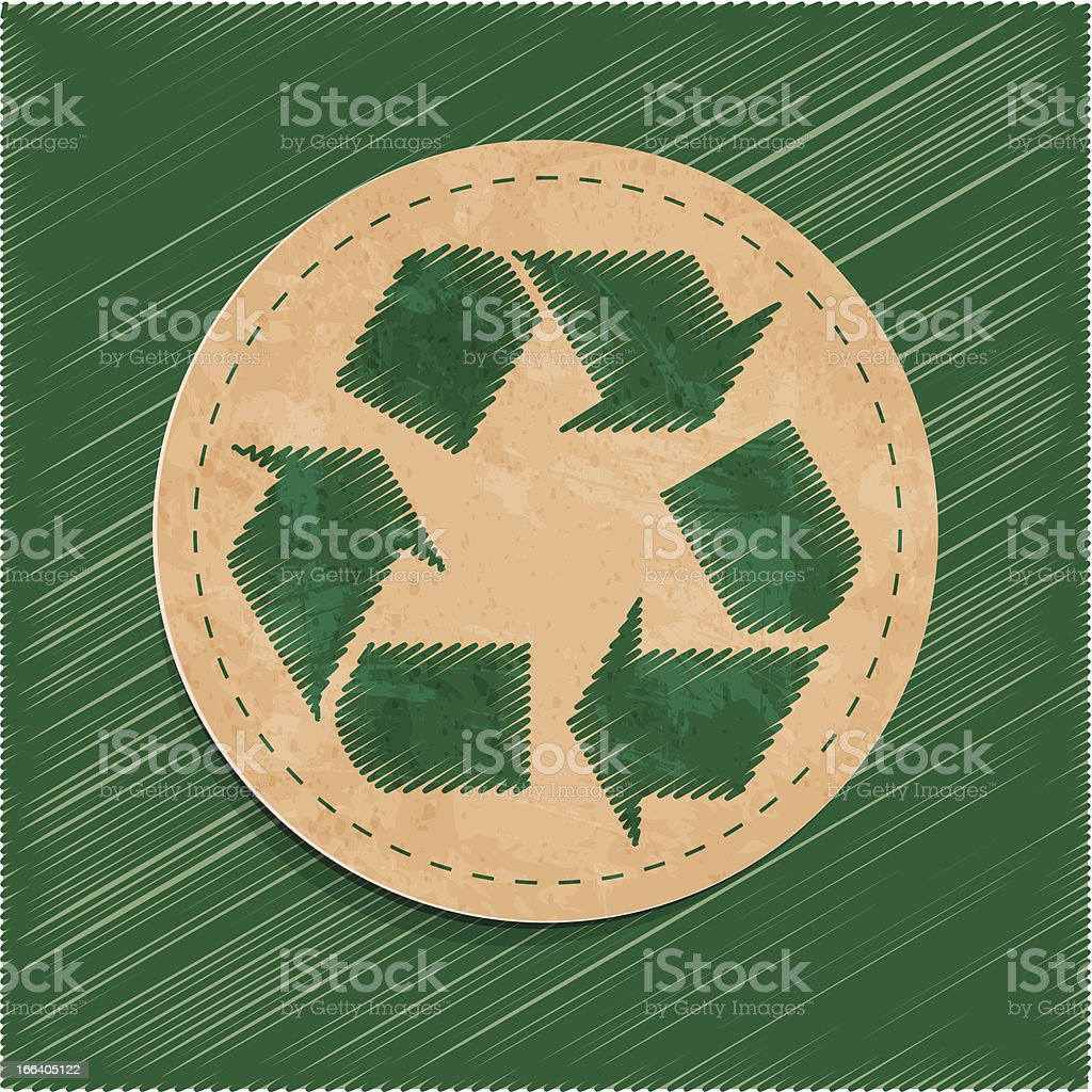 recycle sticker royalty-free stock vector art