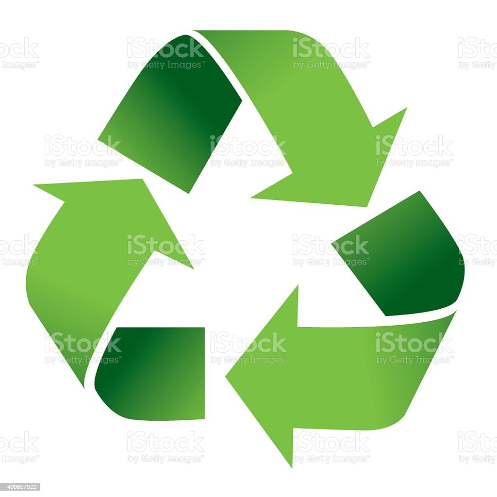 Recycle Symbol Isolated on White vector art illustration