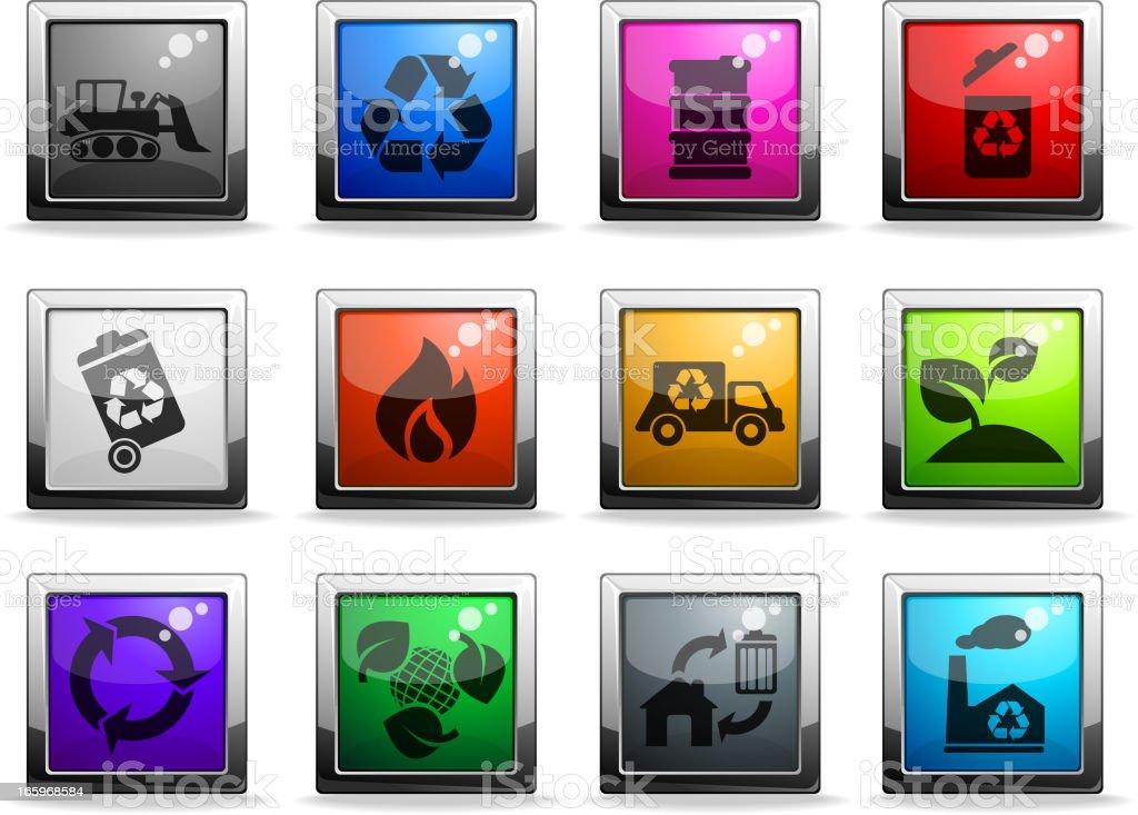 Recycle Symbols royalty-free stock vector art