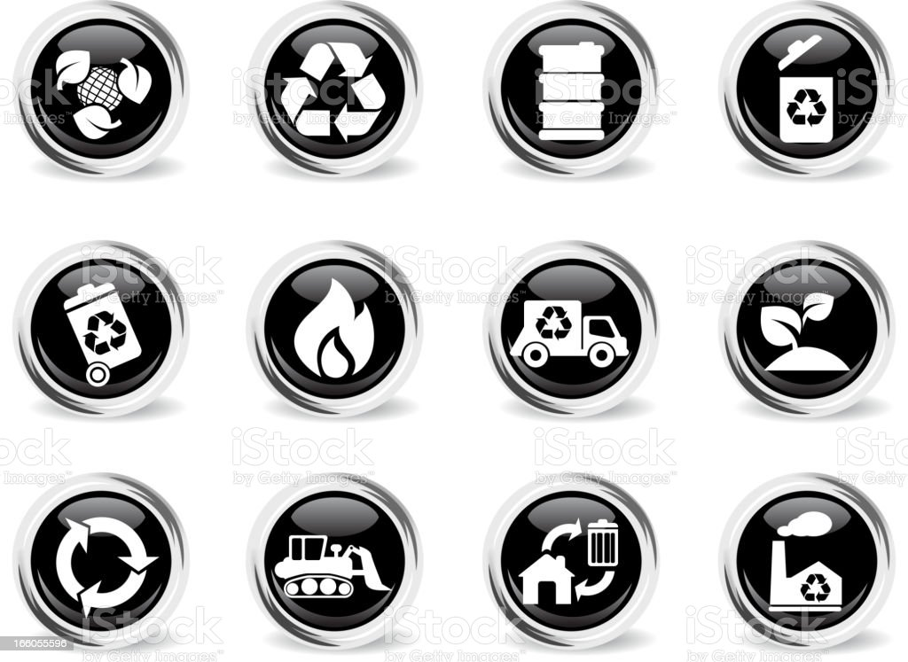 Recycle Symbols royalty-free stock vector art