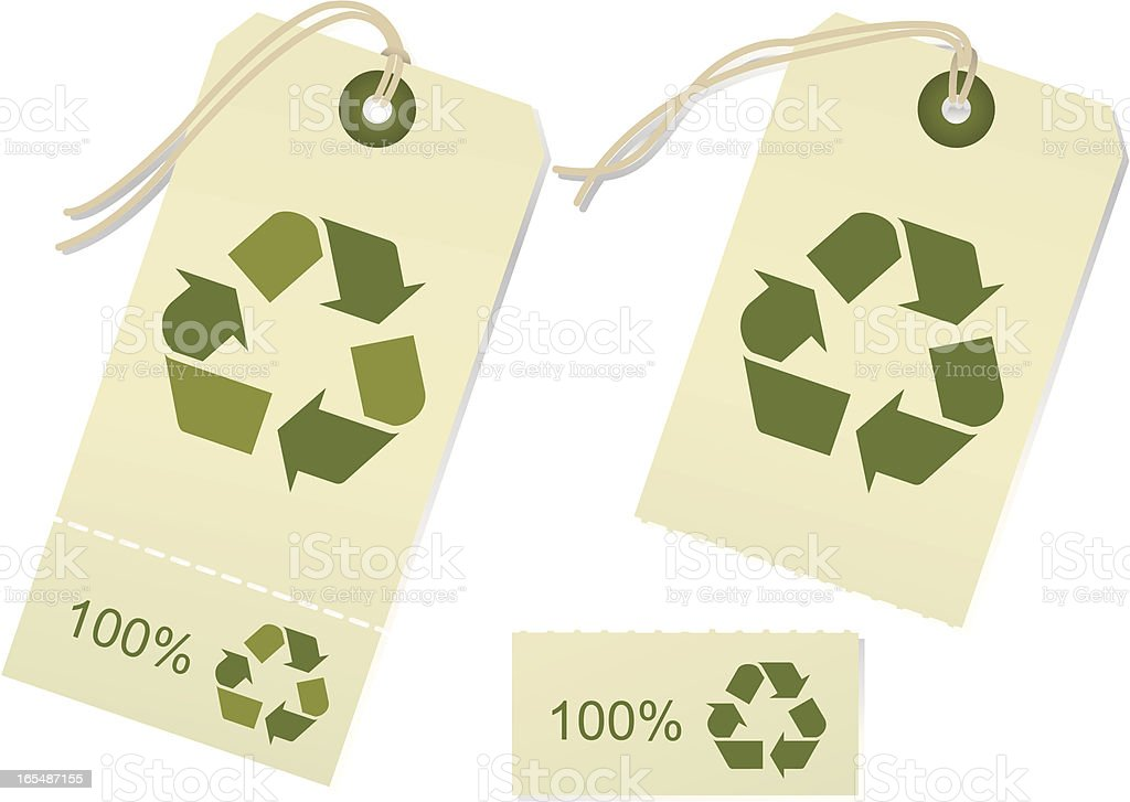 Recycle Tags -Torn royalty-free stock vector art