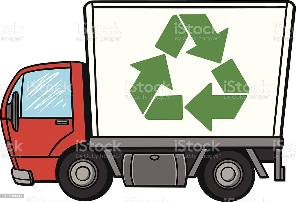 Recycle Truck vector art illustration