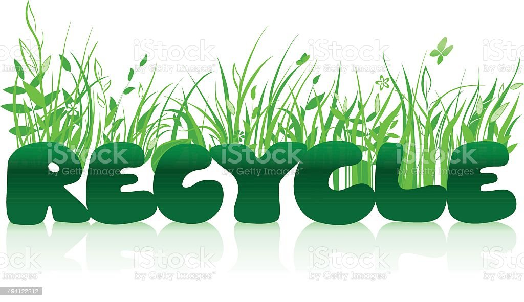 Recycle typographic concept vector art illustration