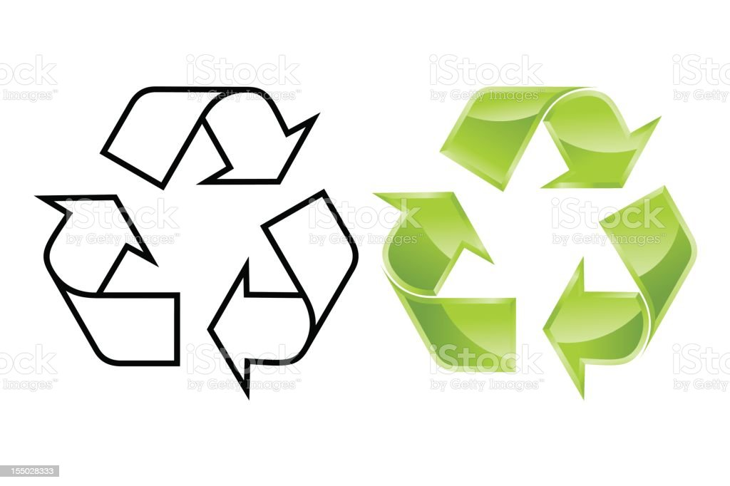 Recycle! vector art illustration
