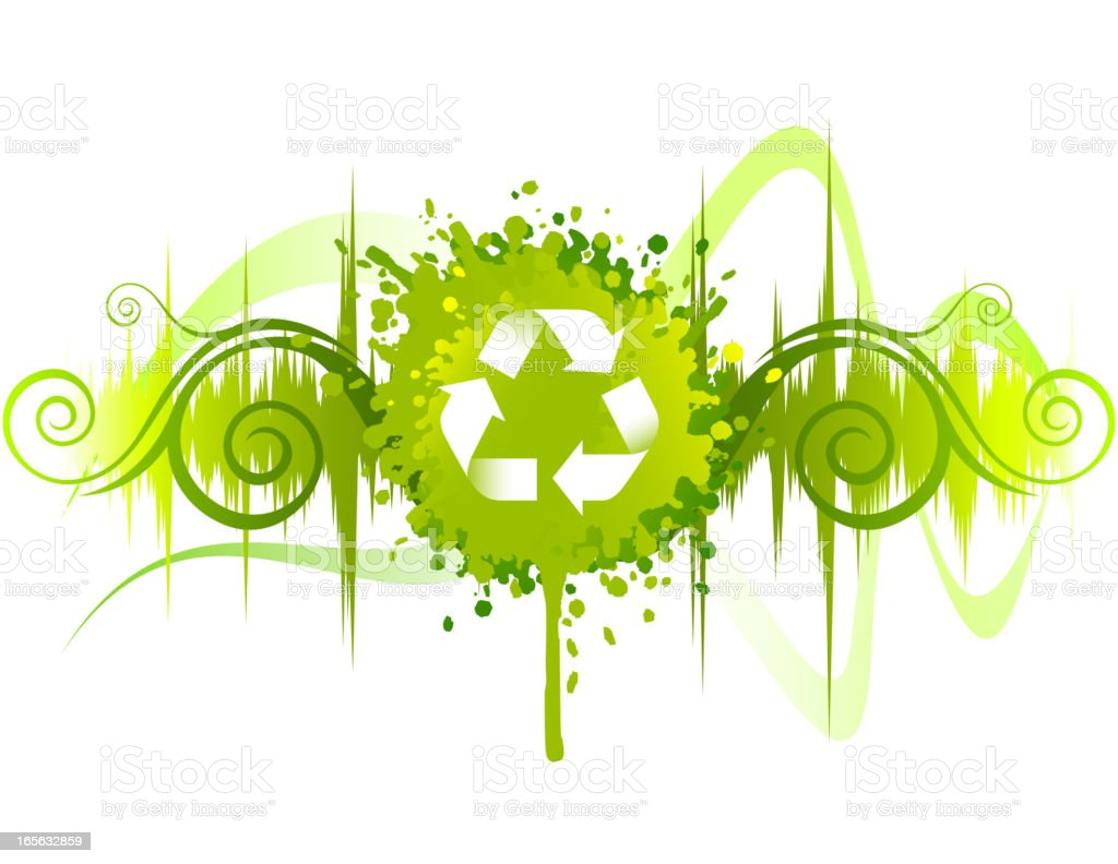 Recycle Wave Abstract Nature Environment vector art illustration