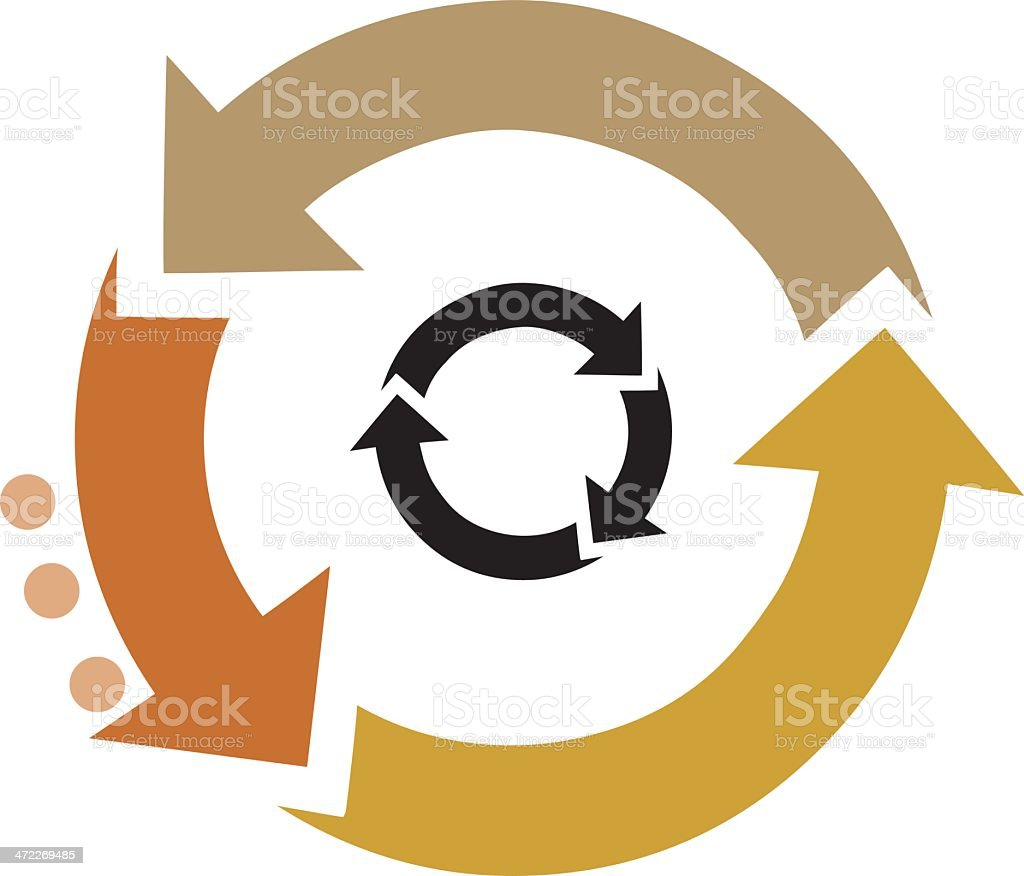 recycle with earth colours royalty-free stock vector art