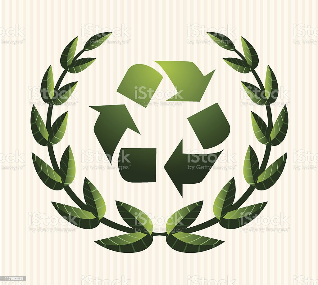 Recycle Wreath Icon royalty-free stock vector art