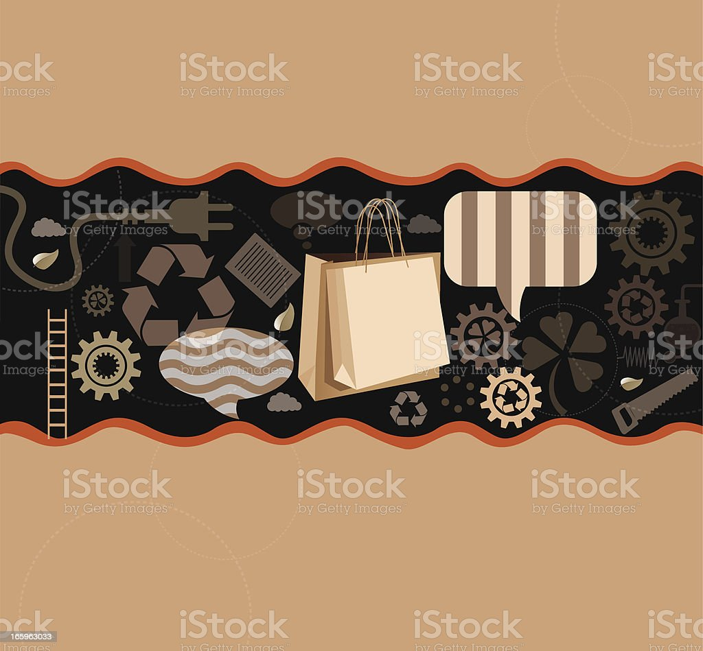 Recycled paper bags royalty-free stock vector art